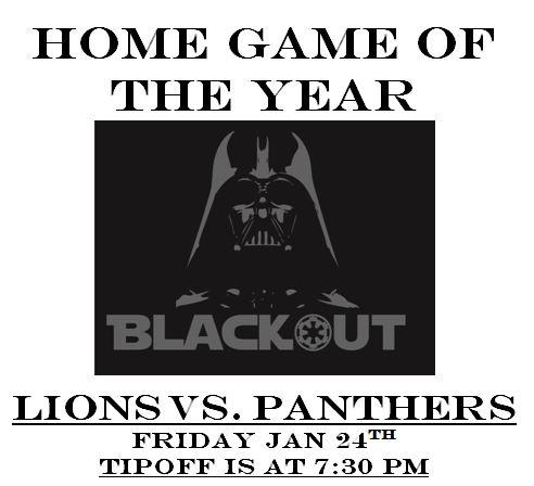 LTHS Blackout Basketball Game