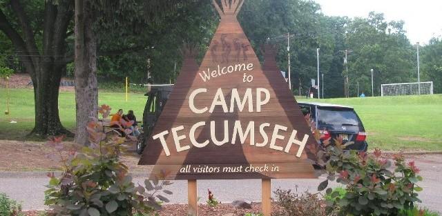 DEDICATION OF CABIN AT CAMP TECUMSEH